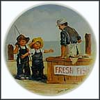 Fish Story Collector Plate by Jeanne Down