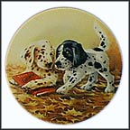 Puppy Tales Collector Plate by Lynn Kaatz