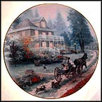 A Carriage Ride Home Collector Plate by Thomas Kinkade MAIN