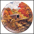 The Covered Bridge Collector Plate by Bart Jerner MAIN