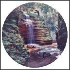 The Hidden Waterfall Collector Plate by Bart Jerner
