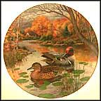 The Green-Winged Teal Collector Plate by Bart Jerner