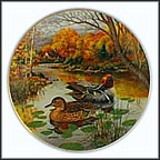 The Blue-Winged Teal Collector Plate by Bart Jerner