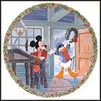 Yuletide Greetings Collector Plate by Disney Studio Artists MAIN