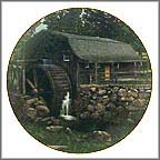 New London Grist Mill Collector Plate by Craig Tennant MAIN