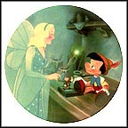 Pinocchio And The Blue Fairy Collector Plate by Disney Studio Artists