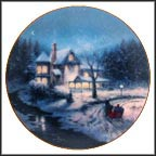 Moonlit Sleigh Ride Collector Plate by Thomas Kinkade MAIN