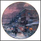 A Winter's Walk Collector Plate by Thomas Kinkade MAIN