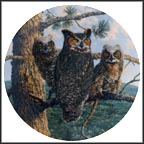 Lofty Limb: Great Horned Owls Collector Plate by James Beaudoin MAIN