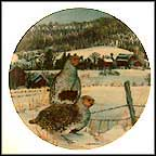 The Gray Partridge Collector Plate by Wayne Anderson MAIN
