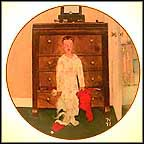 The Truth About Santa Collector Plate by Norman Rockwell