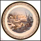Winter Scene, Morning Collector Plate by Currier and Ives