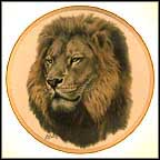 Lion Collector Plate by Guy Coheleach MAIN