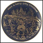 Holly Jolly Christmas Collector Plate by Josef Neubauer