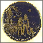 We Wish You Happiness Collector Plate by Josef Neubauer