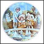 Setting Sail At The Tuileries Collector Plate by Bernard Peltriauz