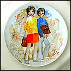 Emilie And Philippe Collector Plate by Paul Durand
