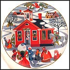 Village School House Collector Plate by Betsey Bates