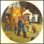 Cowboy Capers Collector Plate by Mike Hagel
