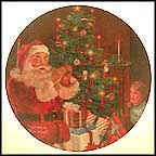 Santa's Secret Collector Plate by Norman Rockwell