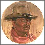 John Wayne Tribute Collector Plate by Endre Szabo