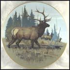 North American Elk Collector Plate by Lee LeBlanc