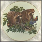 Raccoons Collector Plate by Richard Timm