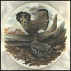 Ruffed Grouse Collector Plate by Jim Foote