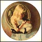 Christi's Kitty Collector Plate by Richard Zolan