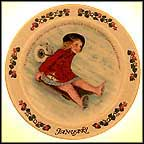 January Collector Plate by Sarah Stilwell Weber MAIN