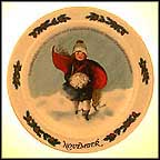 November Collector Plate by Sarah Stilwell Weber