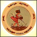 October Collector Plate by Sarah Stilwell Weber