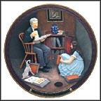 The Storyteller Collector Plate by Norman Rockwell MAIN