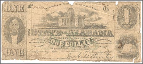 #CR-2 State Of Alabama, Montgomery 1.00 1863 G