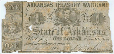 Arkansas Treasury Warrant, Little Rock, Arkansas