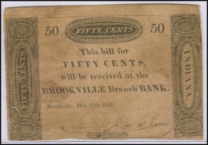 Brookville Branch Bank, Bank of Vincennes, Indiana