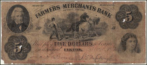 Farmers and Merchants Bank of Cecil Co, Elkton, Maryland
