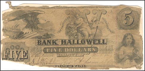 Bank of Hallowell, Maine