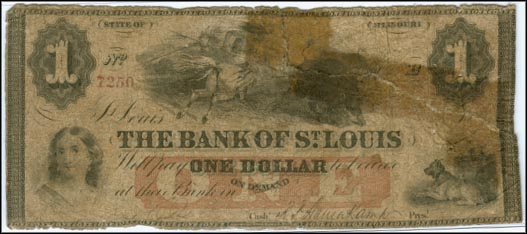 Bank of St. Louis, payable at Kirksville, Missouri