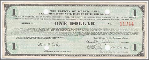 County Of Scioto, Portsmouth, Ohio