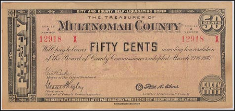 Treasurer of Multnomah County, Portland, Oregon