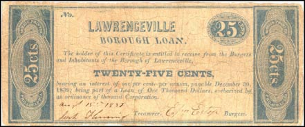 Lawrenceville Borough Loan, Pennsylvania