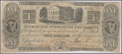 Bank Of The State Of South Carolina, Charleston, South Carolina