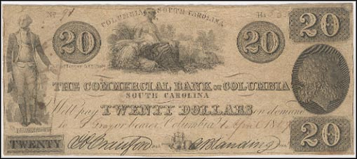 Commercial Bank Of Columbia - JH Childrey Ad on rev, SENC, South Carolina