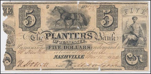 Planters Bank Of Tennessee, Nashville, R15, Tennessee