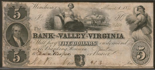 Bank of the Valley in Virginia, Staunton, Virginia
