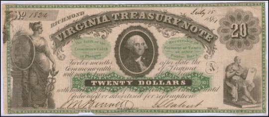 Virginia Treasury Note, Richmond, Virginia