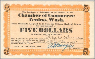 Chamber of Commerce, Tenino, Washington