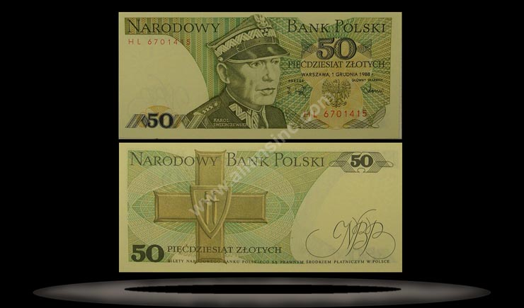 Poland Banknote, 50 Zlotych, 1.12.1988, P#142c