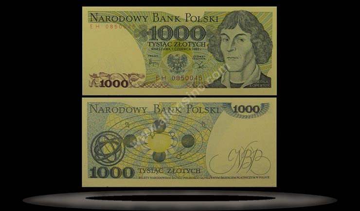 Poland Banknote, 1000 Zlotych, 1.6.1982, P#146c